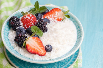 Rice porridge with coconut milk