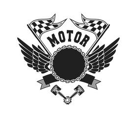 Motorcycle Badge Vectors