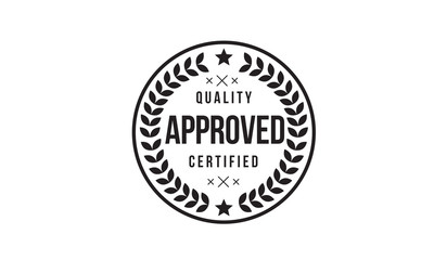 approved logo rubber stamp