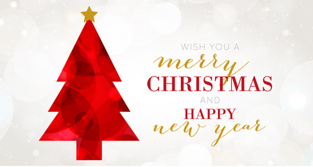 Christmas Tree - Merry Christmas and happy new year