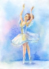 dancer in blue tutu