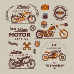 motorbike badget set