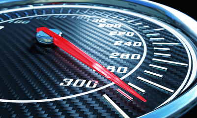 3d carbon speedometer