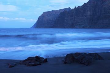 The cliffs of Los Gigantes at dawn
