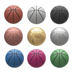 Basketball isolated on a white background. 3D illustration