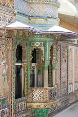 city palace Udaipur India, art,