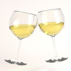 3d render of raising glass of wine
