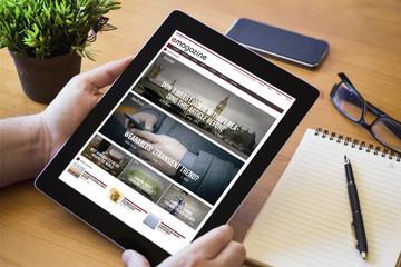 desktop tablet online magazine