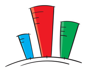 column graph color vector