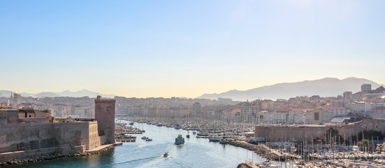 Old Port of Marseille in the morning light