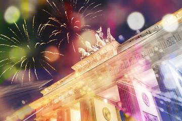 Musik und Party am Brandenburger Tor Hintergrund