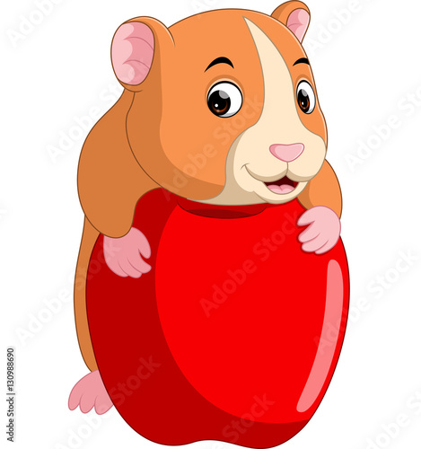 """Cute hamster cartoon"" Stock image and royalty-free vector ... Cute Hamster Cartoon"