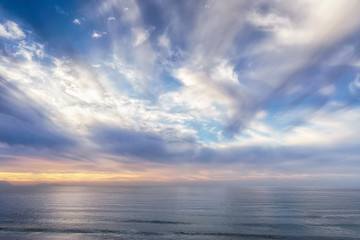 seascape with beautiful clouds Wall mural