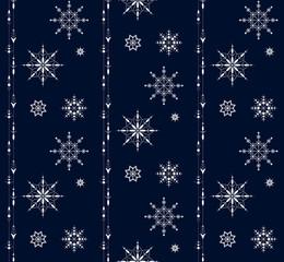 Snowflake seamless ornament pattern