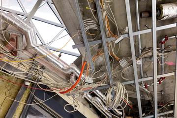 Stromkabel Kabel Leitungen Baustelle