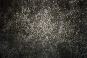 Dark and old cement wall background and textured