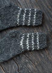 Gray wool socks