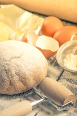 Fresh dough for home baking
