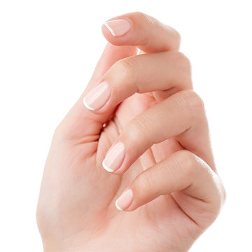 Woman hand isolated