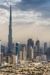 Aerial view of Dubai skyline