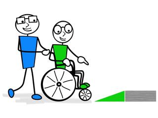 accès handicapé illustration