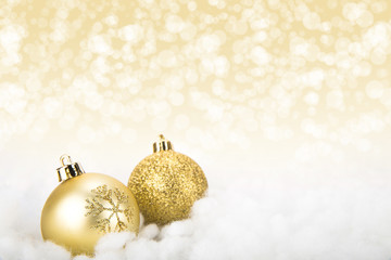 Gold Christmas decoration balls