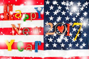 Multicolor inscription Happy New Year