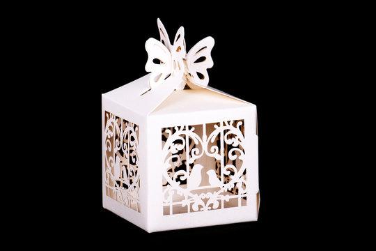 White decor box
