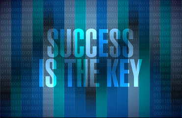 Success is the key binary background sign concept