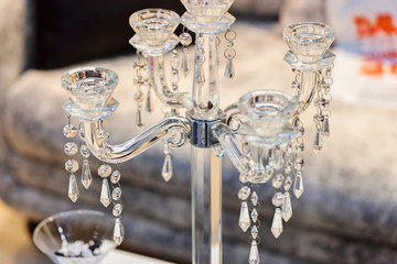 decorative glass candlestick