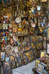 ATHENS - GREECE - SEPTEMBER 21,2016:Orthodox Church Store in Ath