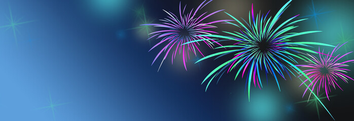 new year banner background with colorful and fireworks buy this stock illustration and explore similar illustrations at adobe stock adobe stock
