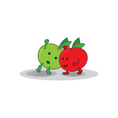 apples fight