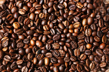 Background from coffee beans.