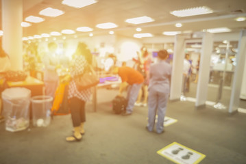 blurred  background of Security Checkpoint - Body and Luggage Sc