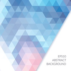 Abstract background with triangles on a white background.