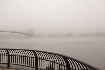 Foggy Brooklyn Bridge
