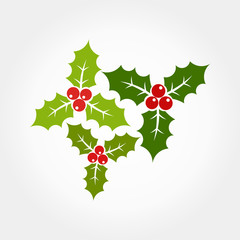 Christmas holly icons