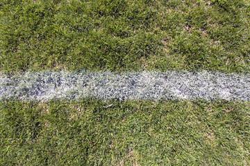 Sports field with chalk line. Horizontal.