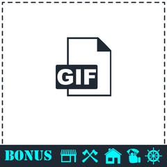 GIF format icon flat