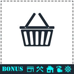 Basket icon flat