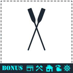 Paddle icon flat