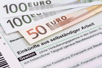 Steuererklärung für Finanzamt für selbständige Arbeit
