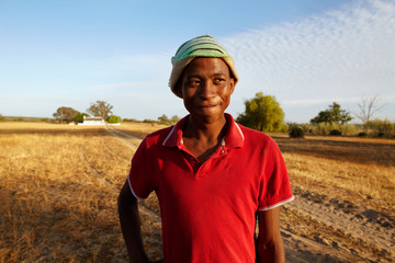 Teen boy on a farm. South Africa
