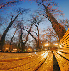 Night view original wet benches