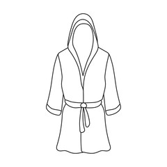 Boxing robe icon in outline style isolated on white background. Boxing symbol stock vector illustration.