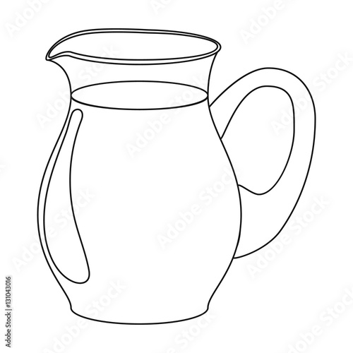 Line Drawing Jug : Quot glass jug of milk icon in outline style isolated on white