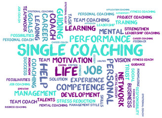 Single coaching word cloud