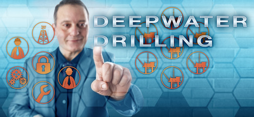 Happy Industry Analyst Pushing DEEPWATER DRILLING