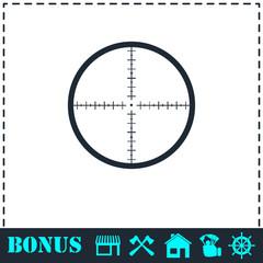 Aim icon flat